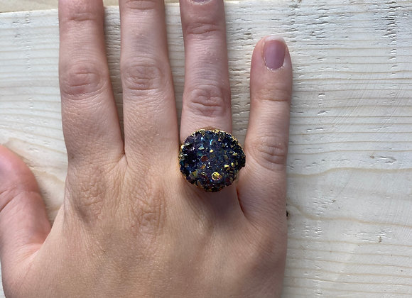 Purple Geode Ring