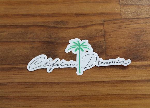 Cursive California Dreamin' Sticker