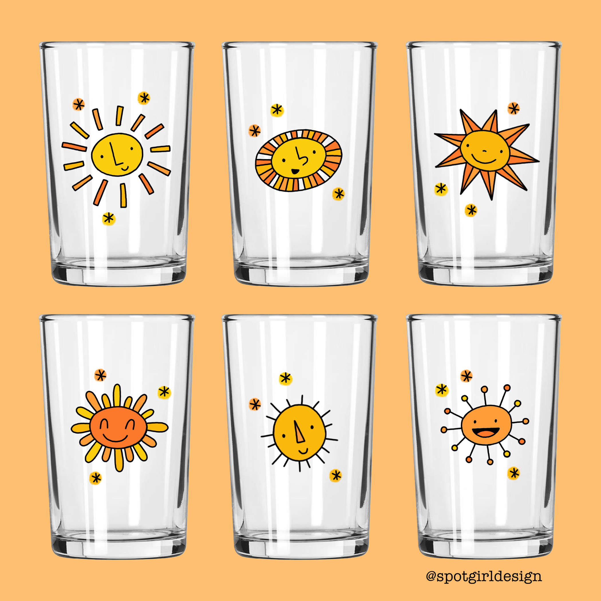 Sunshine Juice Glasses