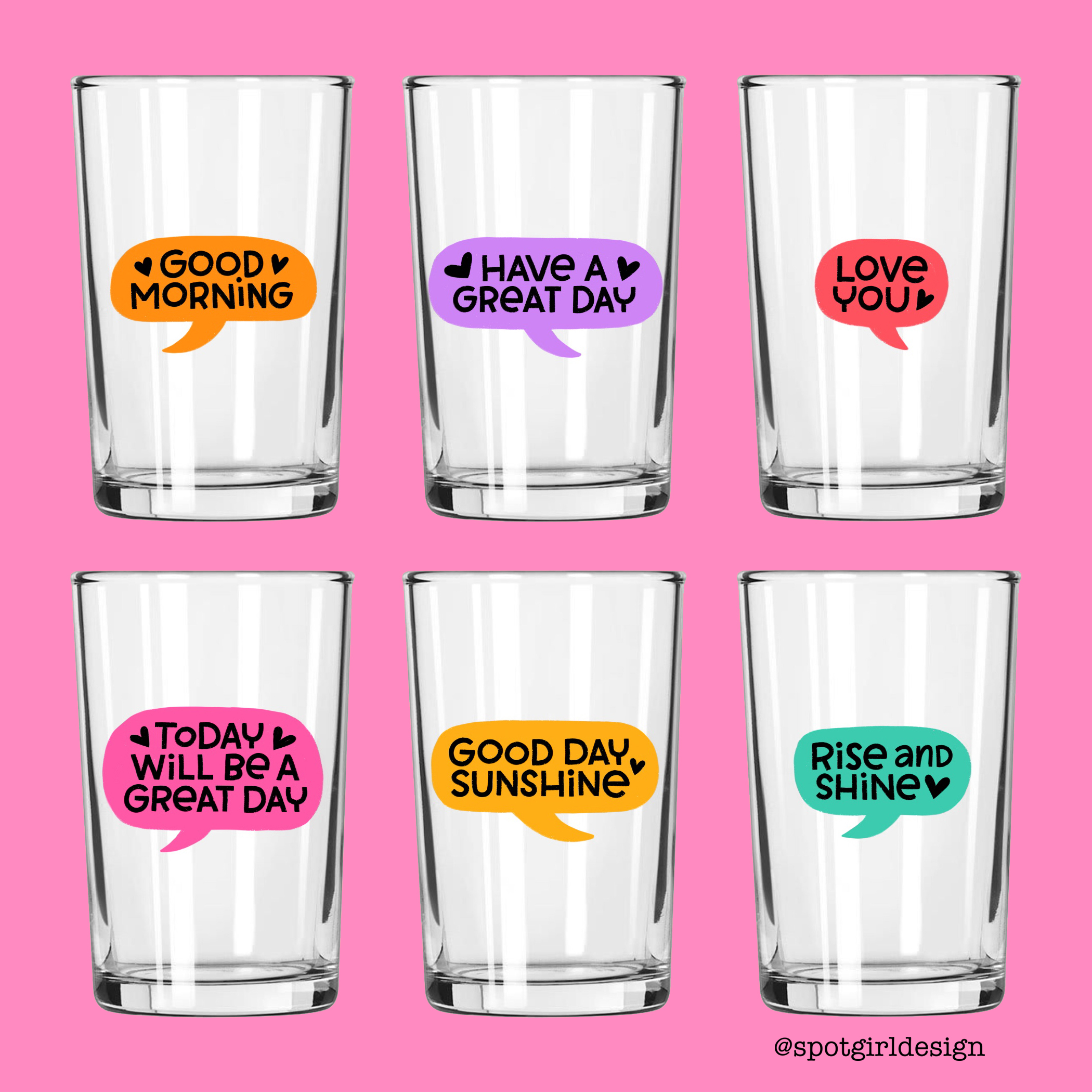 Talk Bubble Juice Glasses