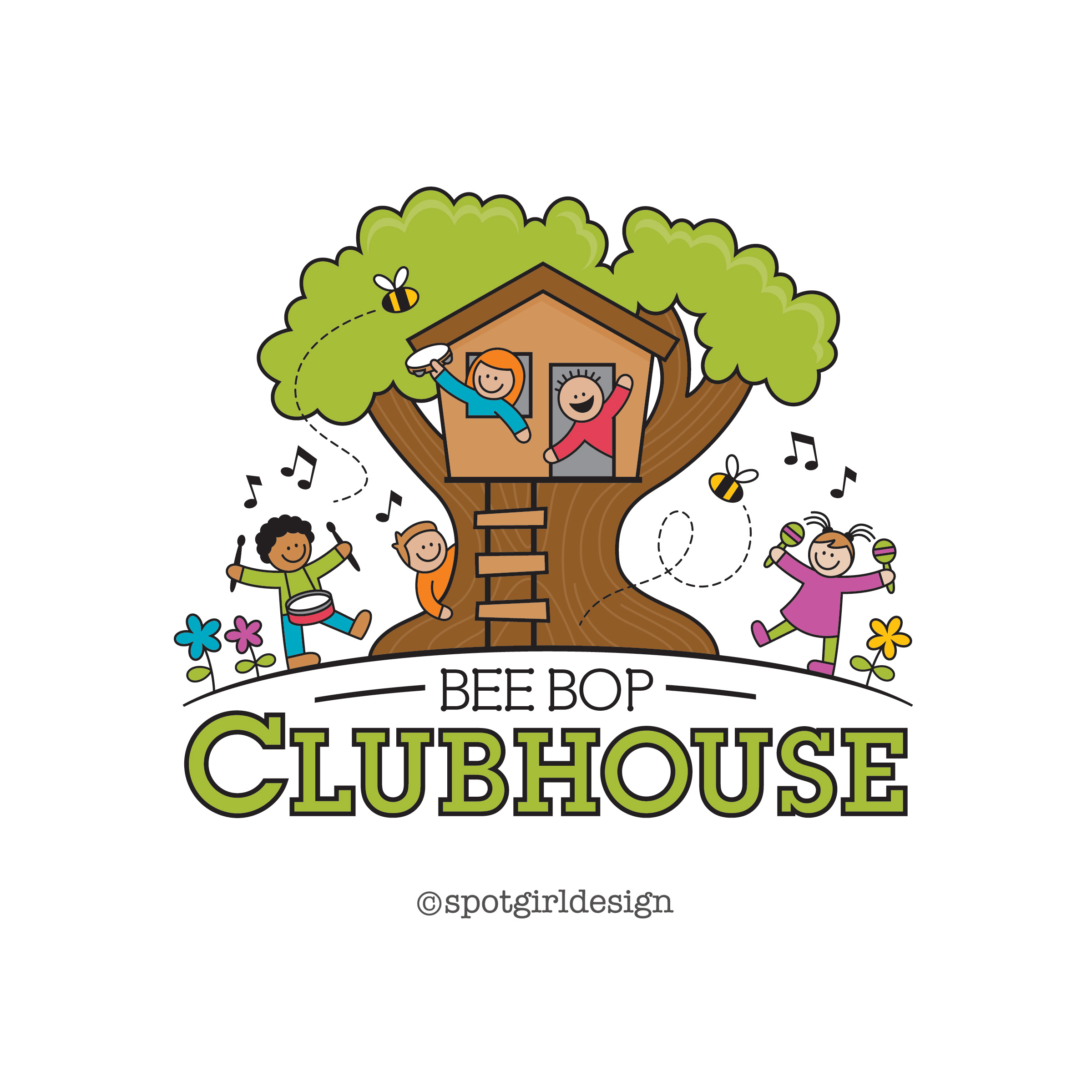 BeeBop Clubhouse Logo