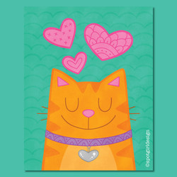 Valentine Cat_with tag
