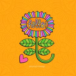 Hello Flower_orange