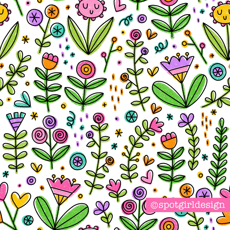 Spotgirl_Sketchy Flowers_watermark