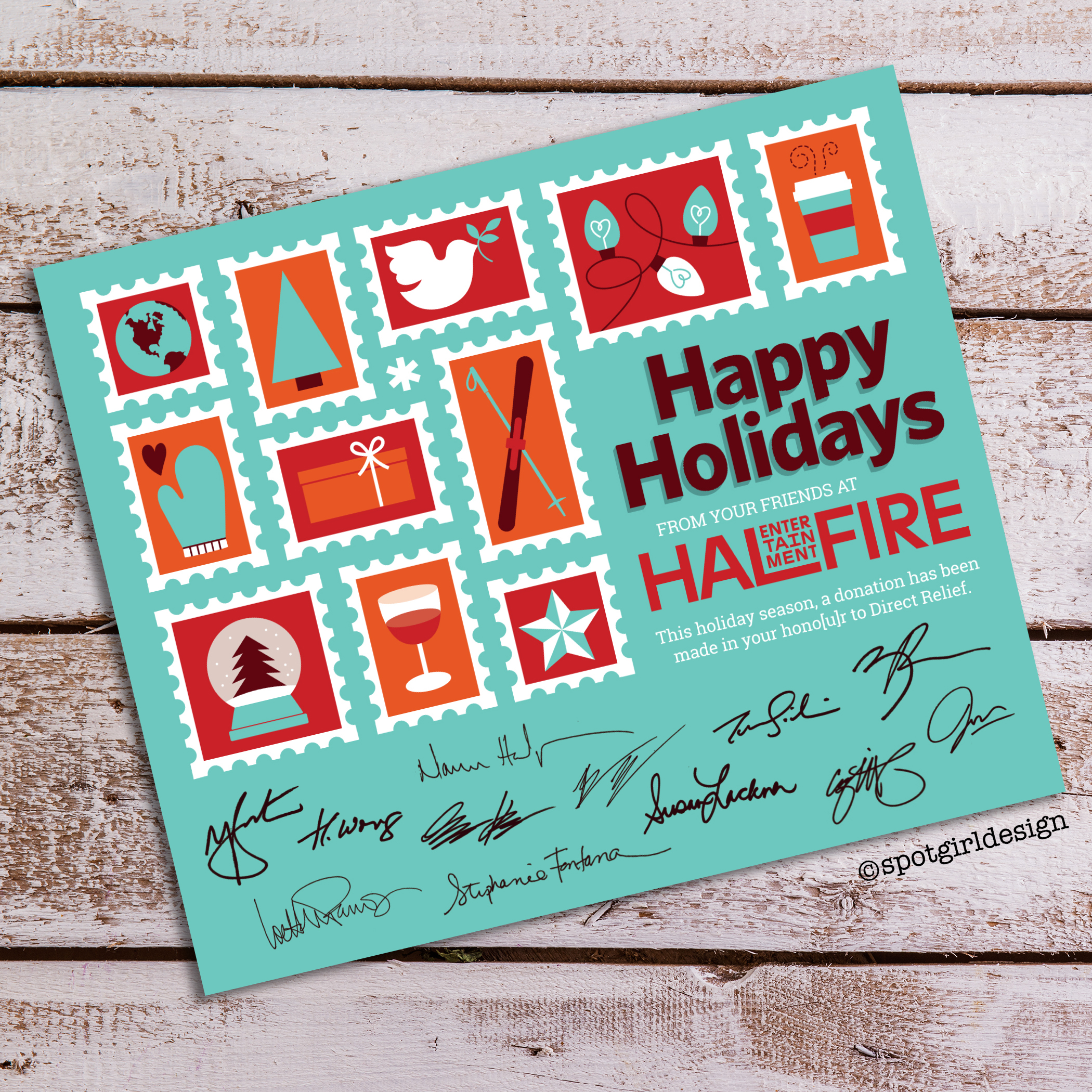Halfire Holiday Card 2019