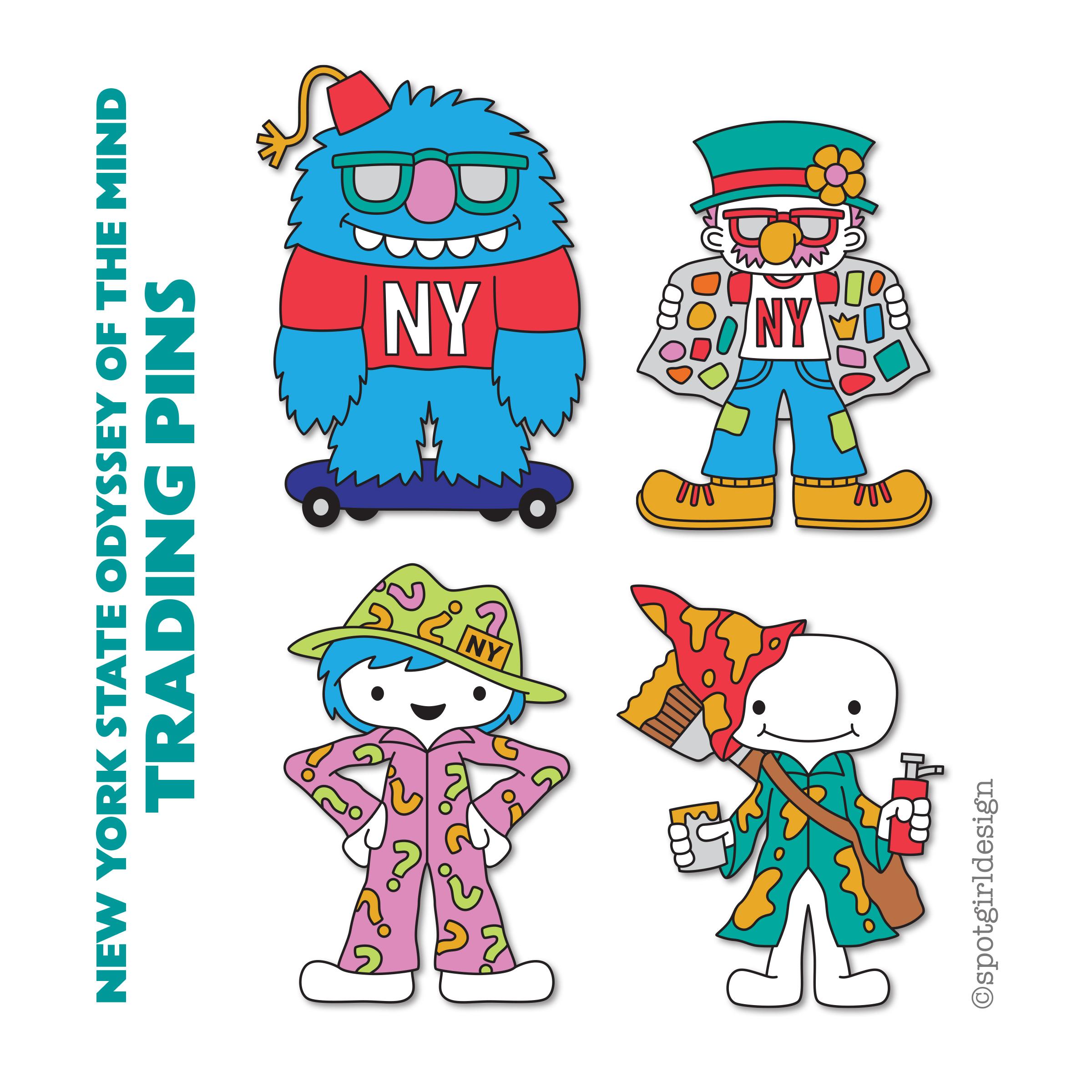 NYSOMA Crazy Character Pins