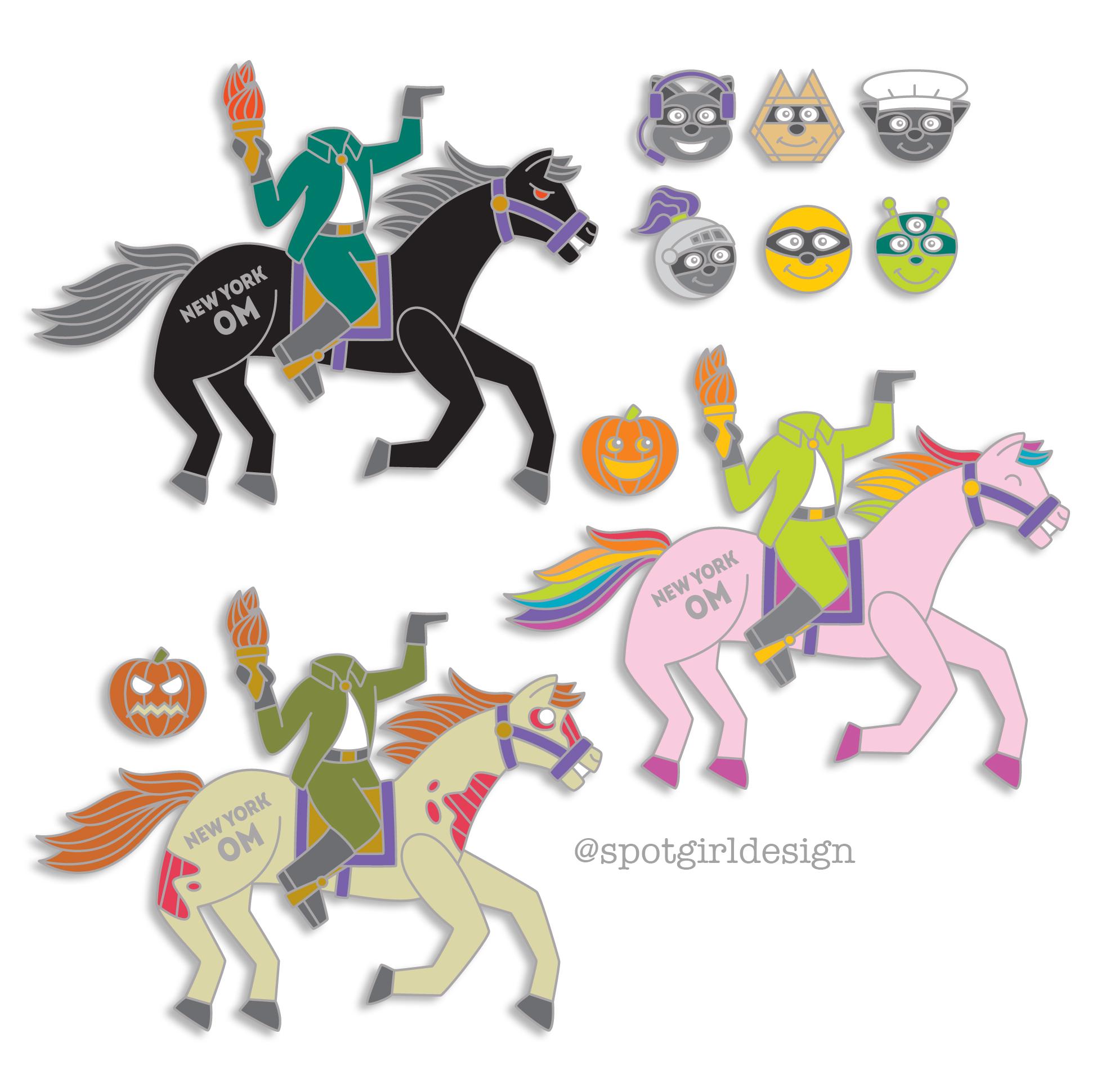 NYSOMA Horseman Pins