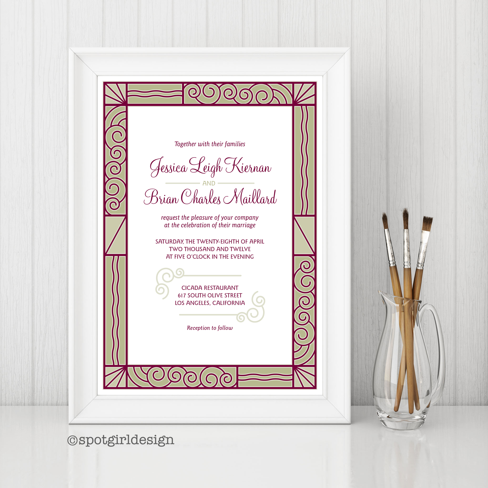 Deco Wedding Invite