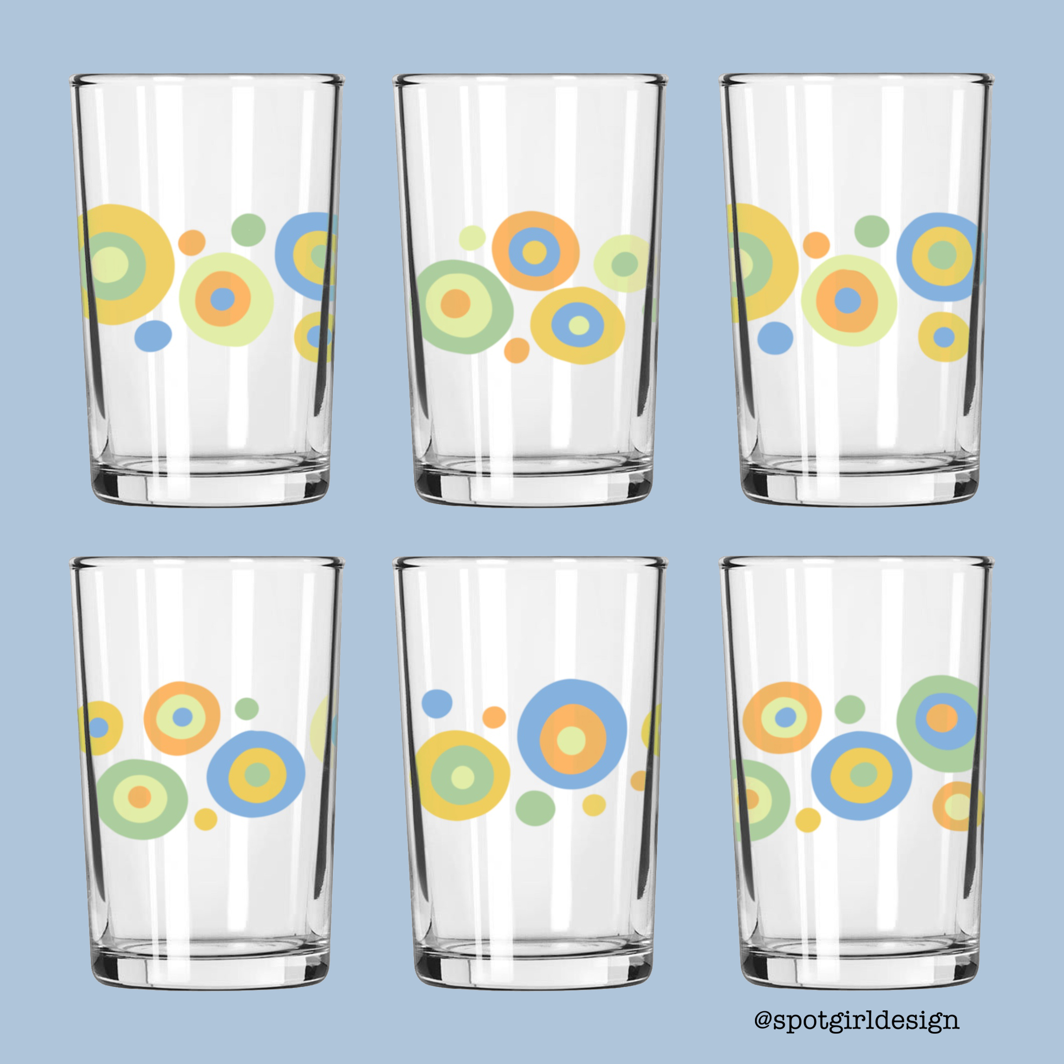 Retro Dot Juice Glasses