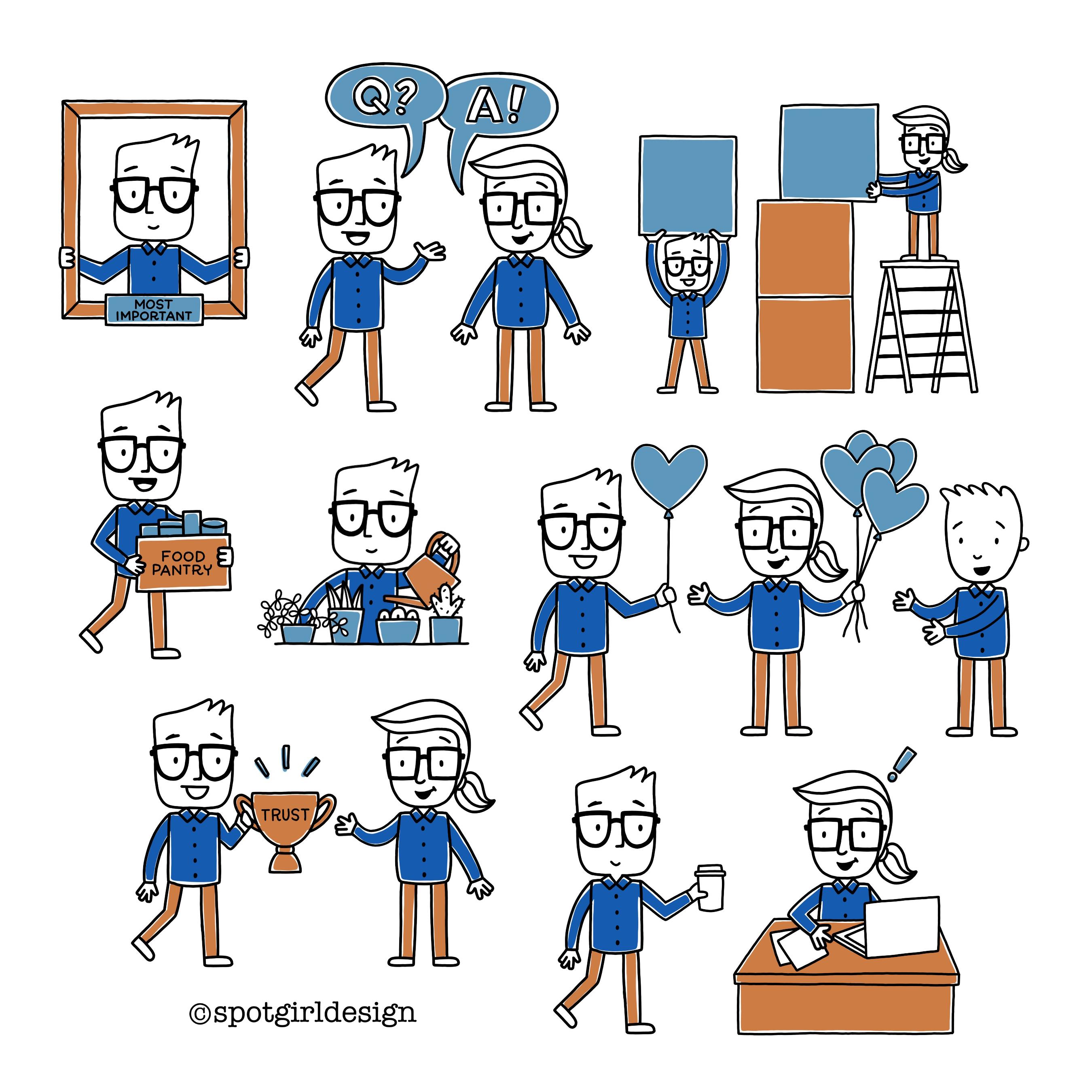 Employee Handbook Spot Art