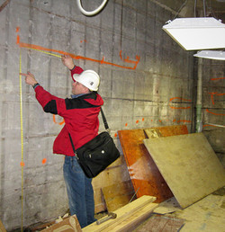 Existing Concrete Wall Survey, Construction Administration