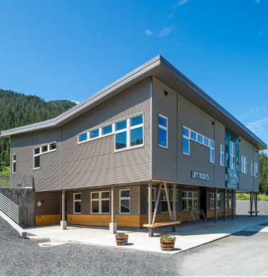 Porcupine Lodge, Eaglecrest Learning Center, Juneau Alaska