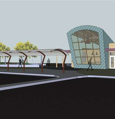 CBJ Visitor Center, Exterior Concept Plan