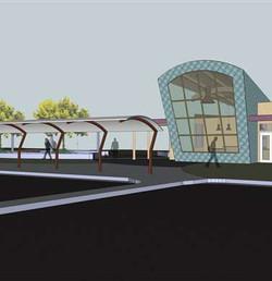 CBJ Visitor Center, Exterior Concept Plan