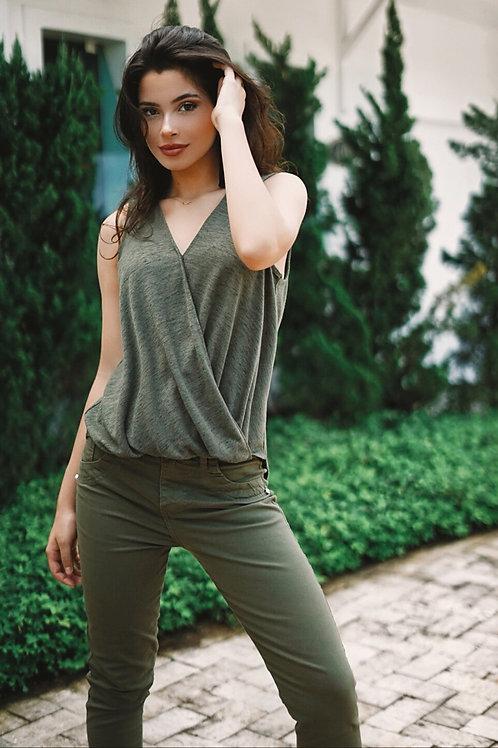 Calça Skinny Color Militar