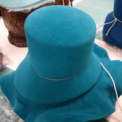 Blocked Turquoise Felt Hat