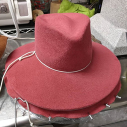 Hat Blocking Workshop - Student's hats.