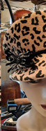 Cheetah Visor Cap with rhinestone spider