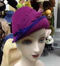 Fuchsia Felt Hat