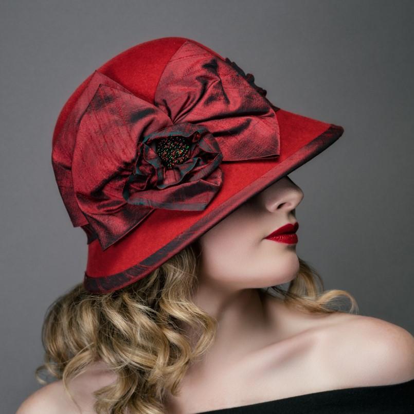 Red Blush Cloche - Carol Campbell