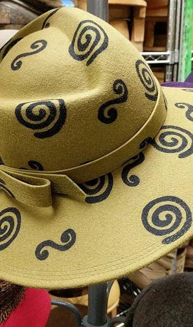 Spirograph Fedora #ballardmillinerystudi