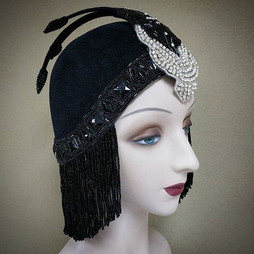 Erte Inspired Headpiece