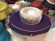 Blocked Purple Felt Hat