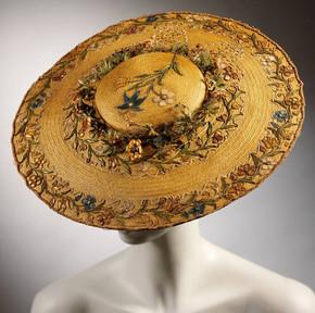 Vintage Cartwheel Straw Hat