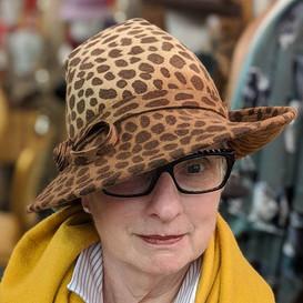 Rosalind - Leopard print felt #hats #mil