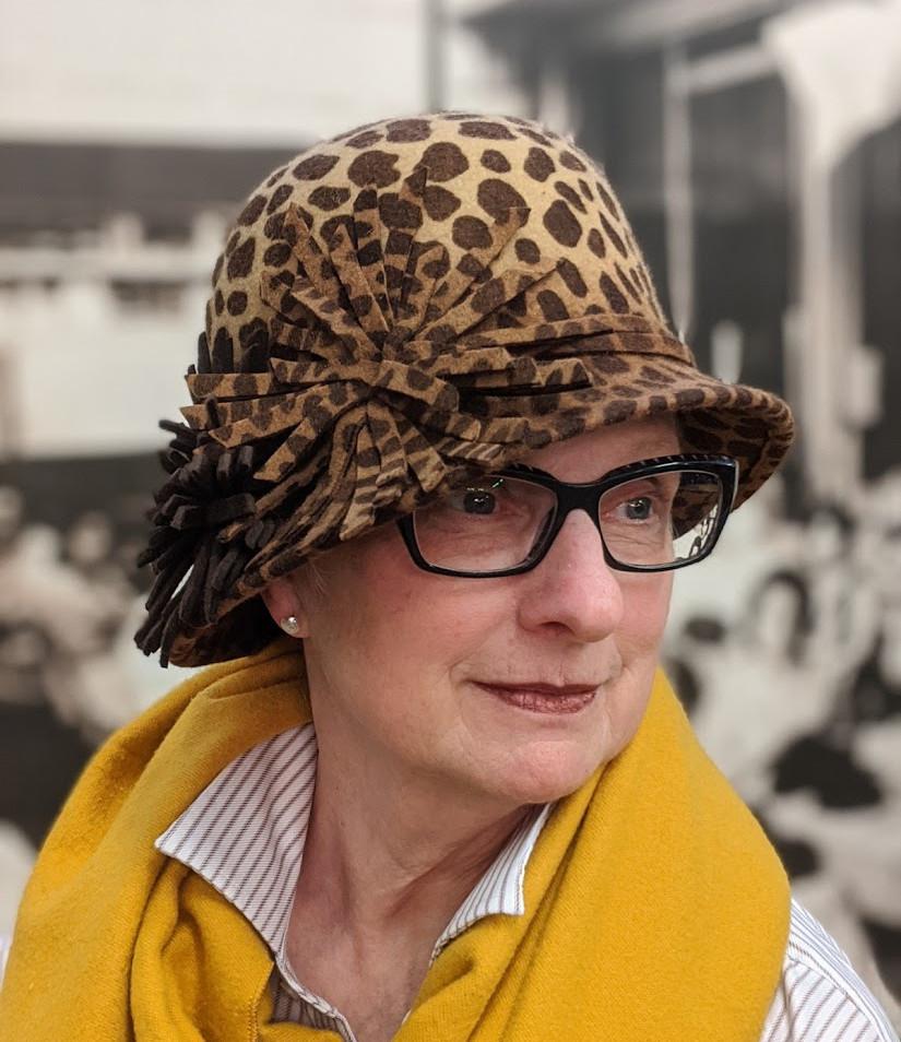Leopard Cloche