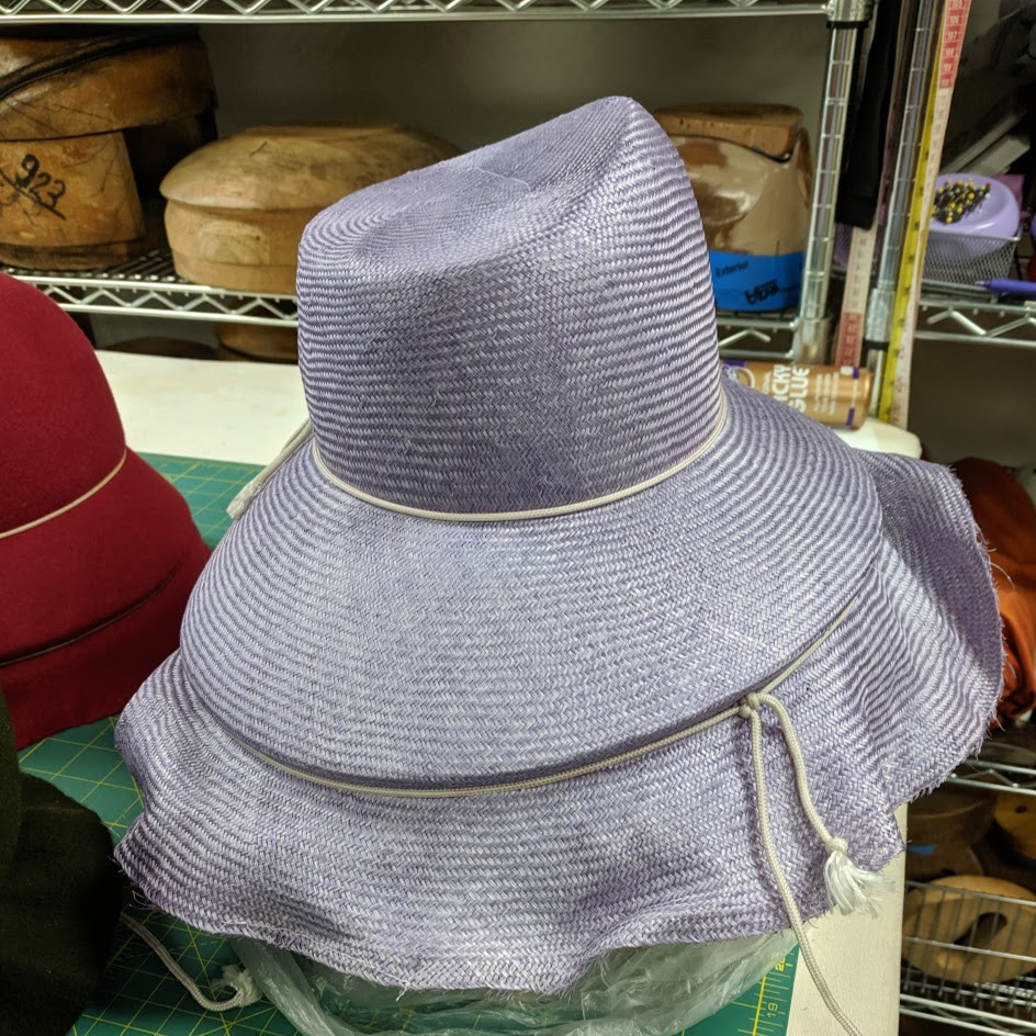 Slanted Crown Straw Hat