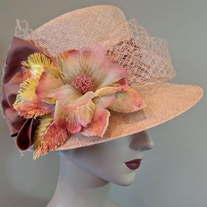 Blush Topper - peach/pink sisol straw wi