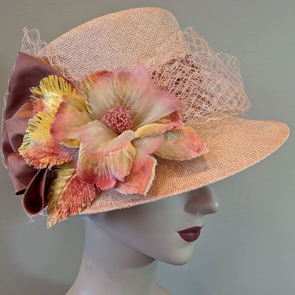 Blush Topper - peach/pink sisol straw wi