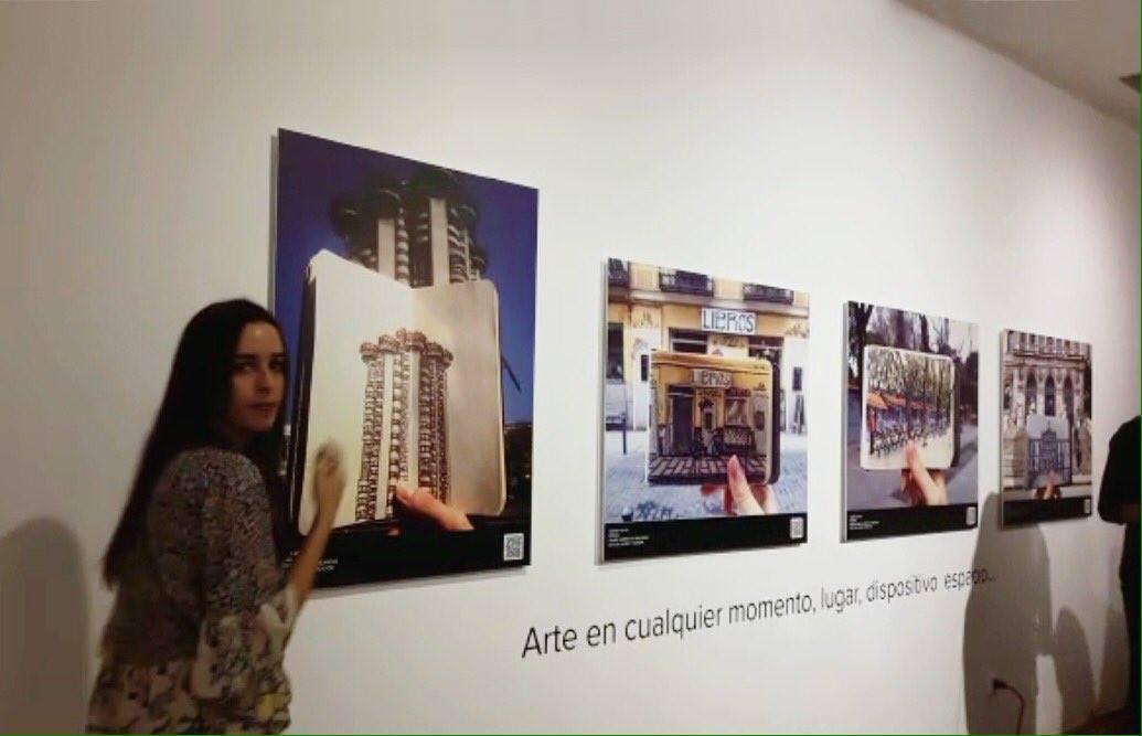 Exposición en Arte en la Red, en la Casa de América.