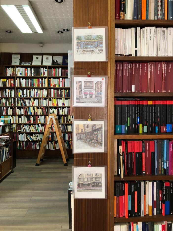 Exposición de librerías en la librería Polifemo.