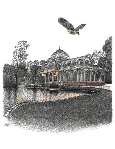 Palacio de Cristal, y autillo.