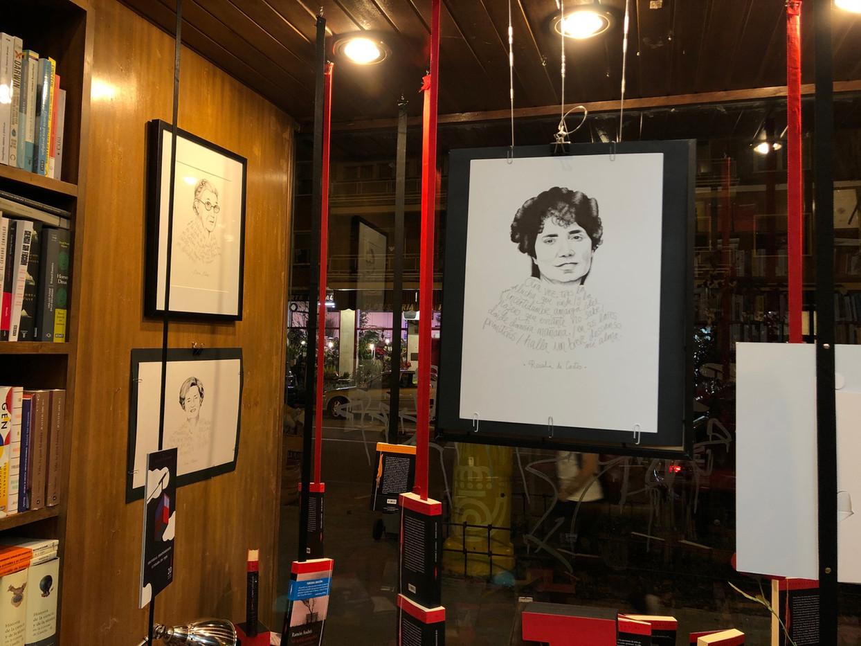 Exposición de caligramas en la librería Polifemo.