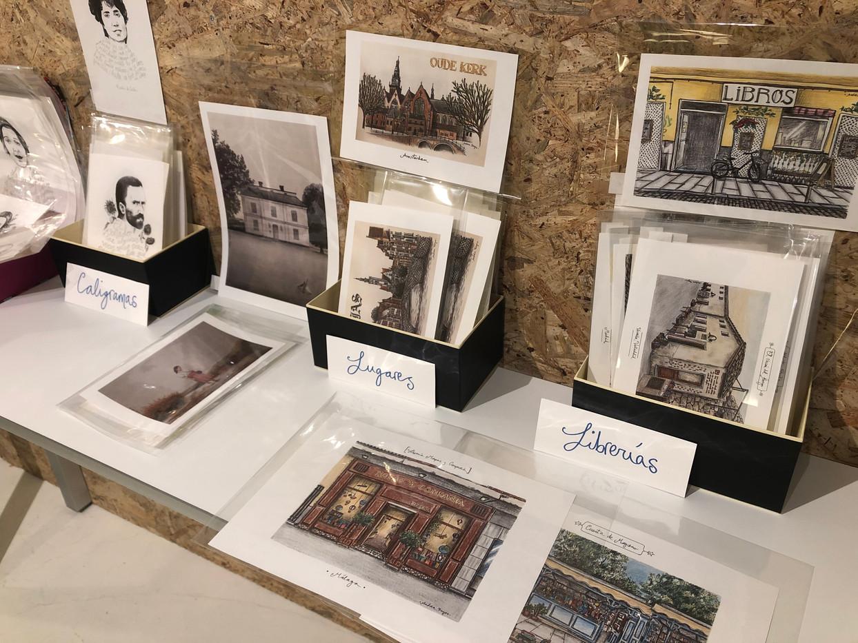 Exposición en el espacio de Ediciones Encuentro.