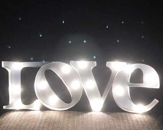 Light-Up Love Sign (table-top)