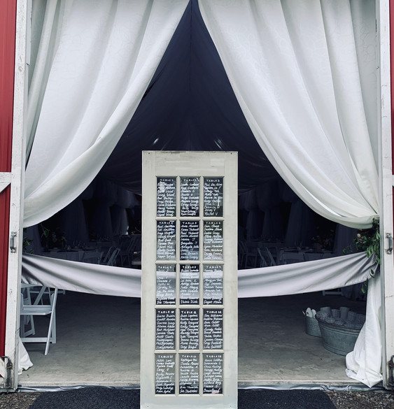 Wooden Glass Pane Door Seating Chart