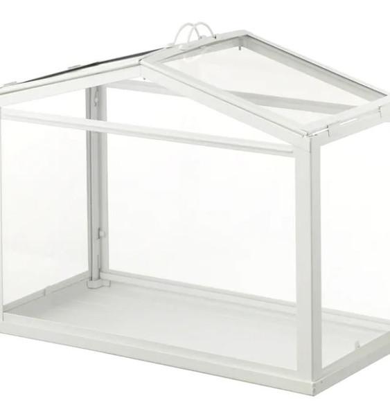 White Glass Card Box