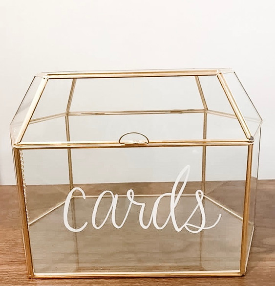 Golden Glass Card Box