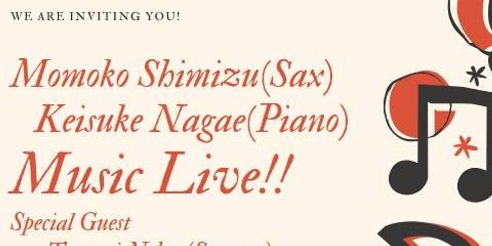 Momoko Shimizu (sax) & Keisuke Nagae (piano)