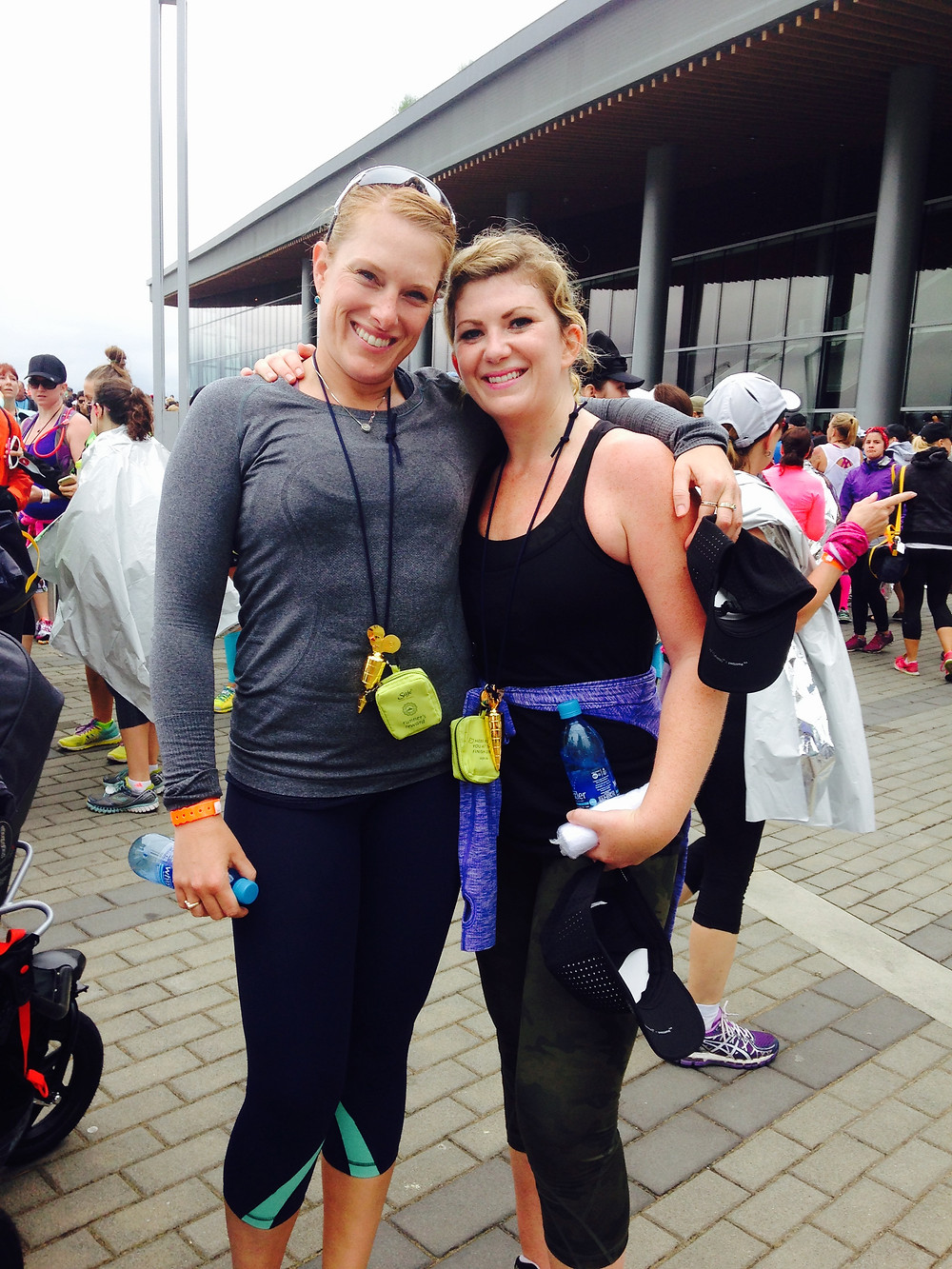 Krista Guloien and Marla Guloien Running In Vancouver SeaWheeze 2015