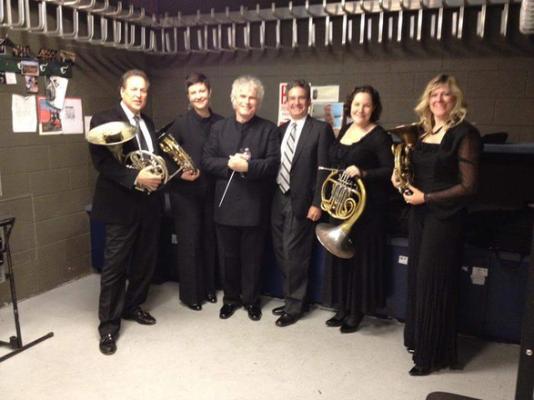 Philadelphia Orchestra horn section with Simon Rattle