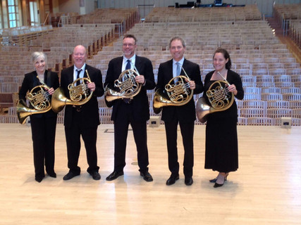 Horn section of the National Brass Ensemble