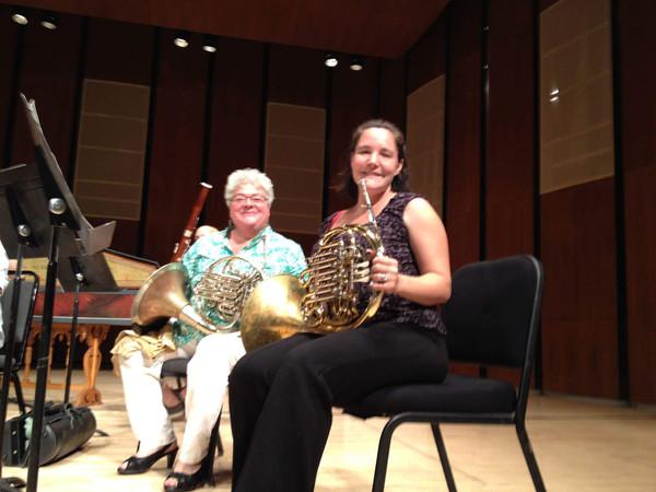 with Julie Landsman, my teacher