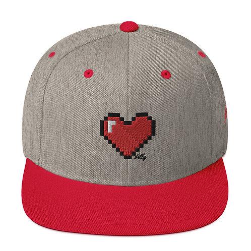 8-Bit Heart Snapback Hat