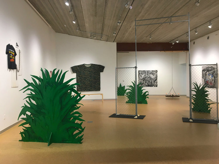 """Installation View of """"Death is the Martyr of Beauty"""""""