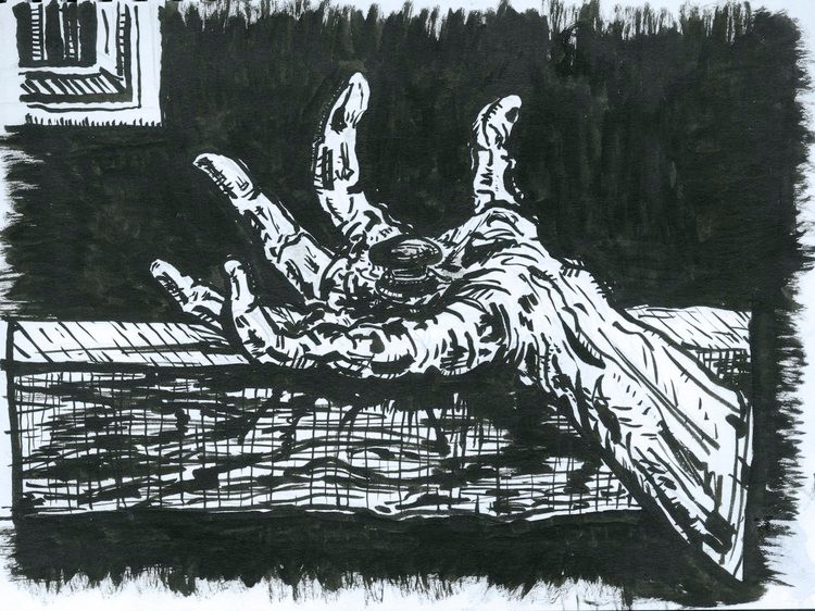 Issenheim Alterpiece (Sketchbook Project)